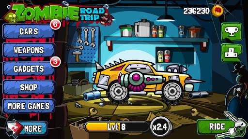 скачать игру zombie road trip