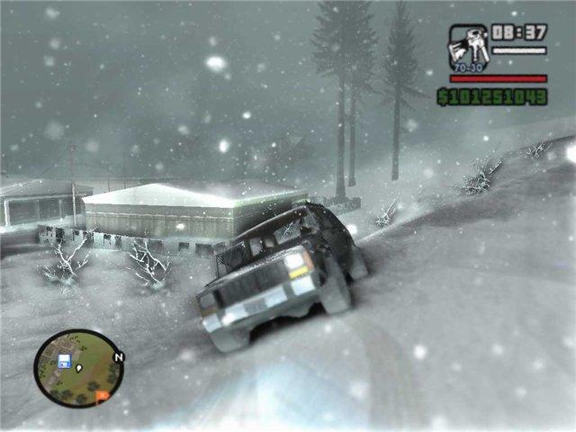 Скачать игру GTA San Andreas зима. На территории ГТА наступает ...